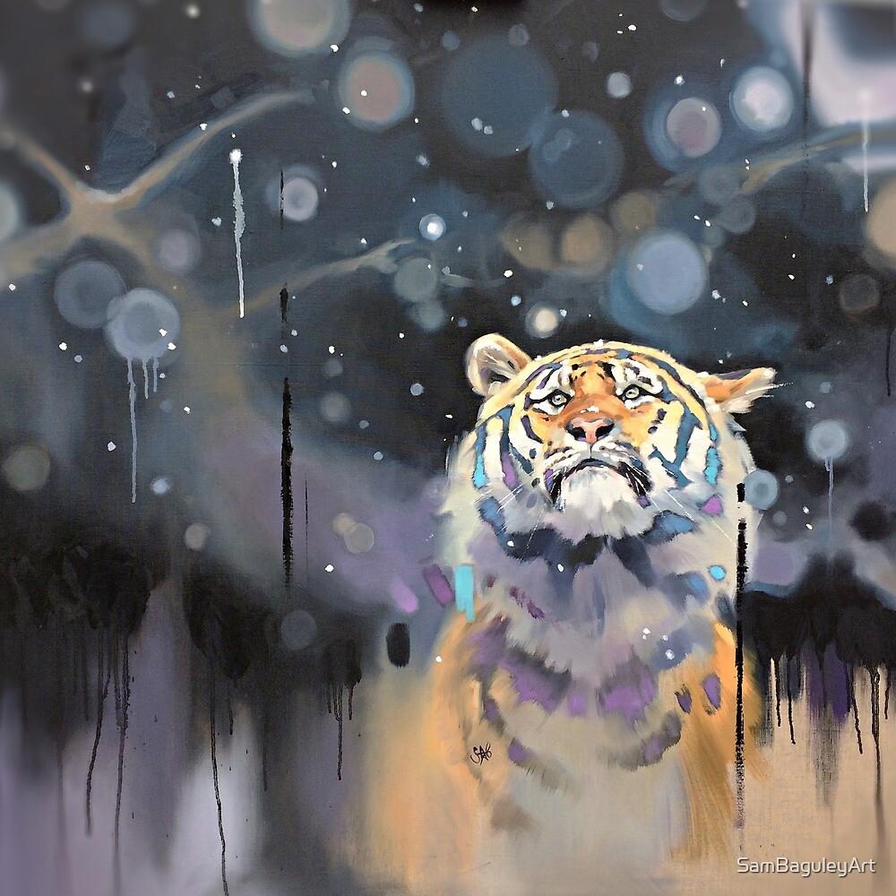 Snowy Tiger by SamBaguleyArt