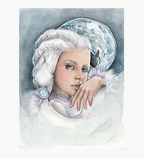 """Moon princess """"Yue"""" watercolour and ink painting Photographic Print"""