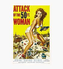1958 movie poster Attack of the 50 Foot Woman Photographic Print