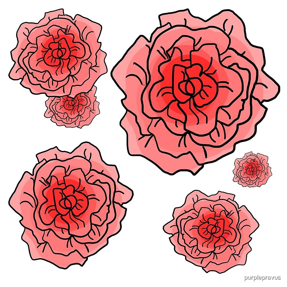 Pink Rose Pattern by purplepravus