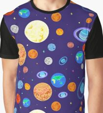 Pattern  planets of the solar system. Graphic T-Shirt