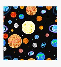 Pattern  planets of the solar system. Photographic Print