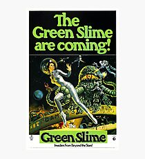 1968 movie poster the green slime Photographic Print