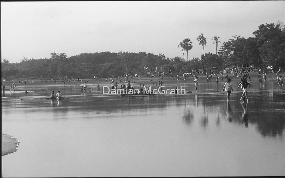 Reflections on Sunday Seminyak Beach Bali by Damian McGrath