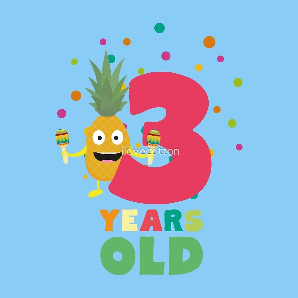Three Years third Birthday Party Pineapple Ru73e by ilovecotton