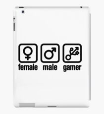 Female - Male - Gamer (USB) iPad Case/Skin