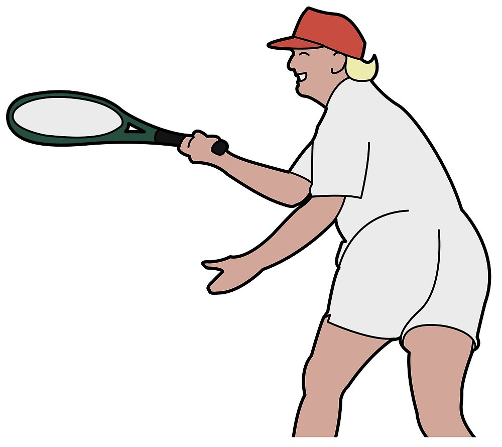 Thicc Trump playing Tennis by Oscar Mc Auliffe