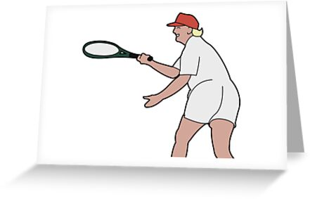 Thicc trump playing tennis greeting cards by oscar mc auliffe thicc trump playing tennis by oscar mc auliffe m4hsunfo