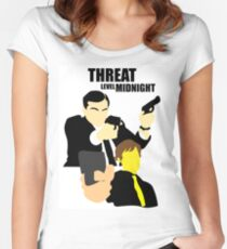 The Office - Threat Level Midnight Women's Fitted Scoop T-Shirt