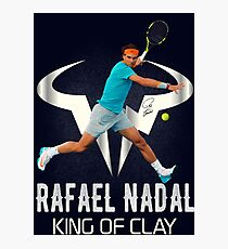 Rafael Nadal King of Clay Photographic Print