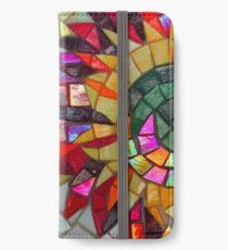 Star Flower,  photography of shiny mosaic - JUSTART © iPhone Wallet/Case/Skin