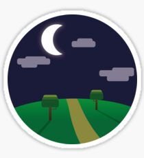 Road at night Sticker