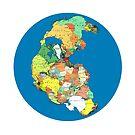 Pangea Political World Map by branpurn
