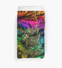 Radioactive Psychedelic Palm Tree Duvet Cover
