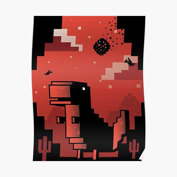 Chrome Dinosaur Posters Redbubble