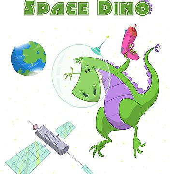 Little Boys & Girls Space Dino T Shirt by PaulDoodles