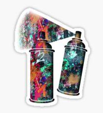 Graffiti and Paint Splatter Sticker
