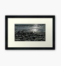 Sunshine on the shore Framed Print