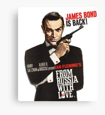 From russia with love James Bond  Canvas Print