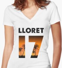 Lloret 17 Women's Fitted V-Neck T-Shirt