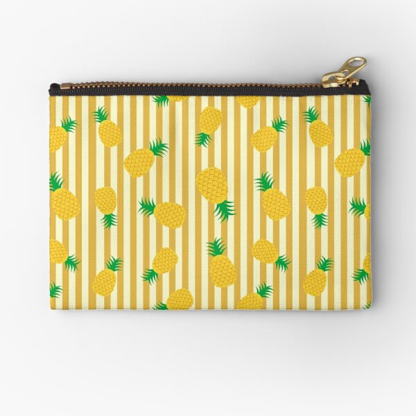 Pineapples and Stripes Zipper Pouch