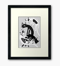 4 cats Framed Print