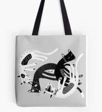 4 cats Tote Bag