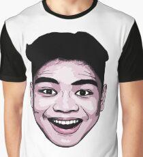 LeoVeo Cartoon  (Face Only) - Light Pink Graphic T-Shirt