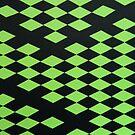 Green Rhombuses 2 by Milica Mijačić