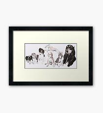 Saluki Growing Up  Framed Print