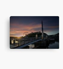 Torquay Harbour At Sunset Canvas Print
