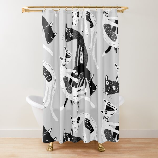 4 cats Shower Curtain