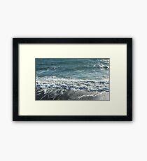 Swirling sea Framed Print