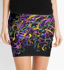 Splash Glass Rattlesnake - Remastered Digital Painting Mini Skirt