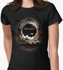 Solar Eclipse 8/21/17  Women's Fitted T-Shirt