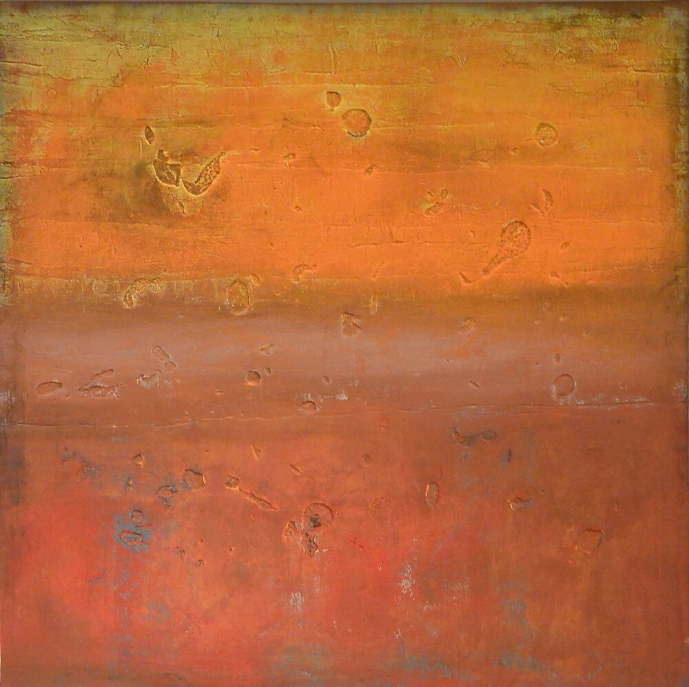 Quotxl orange and dark red painting modern art nature canvas for Dark red paintings