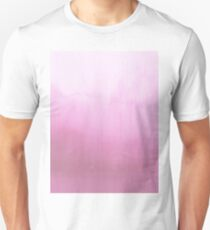 Blush pink watercolor paint brushstrokes pattern Unisex T-Shirt