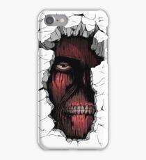 Titan in the Wall iPhone Case/Skin