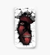 Titan in the Wall Samsung Galaxy Case/Skin