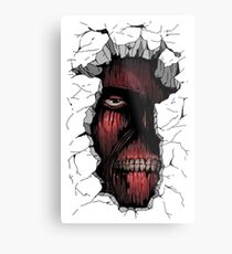 Titan in the Wall Metal Print