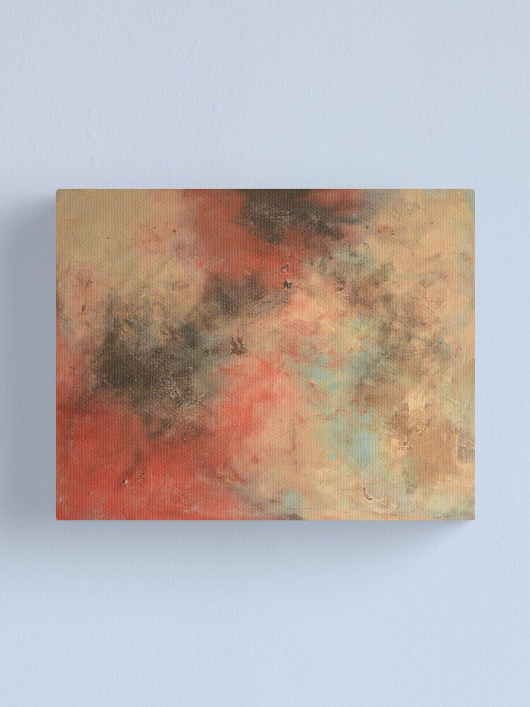 Large Abstract Painting Orange Love Canvas Wall Art Picture Print
