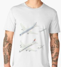 Passenger Airplane. Passenger Airliner. Airplane freight. Isometric Concept. Transportation Mode. Aircraft Vehicle. Set of Planes Men's Premium T-Shirt