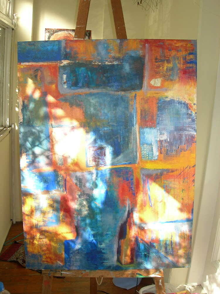 Afternoon light on a work in progress  by lucyB