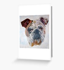 American Bulldog Portrait Greeting Card