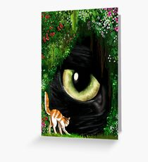 Giant cat Greeting Card