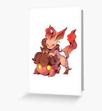 Pokemon: Autumn Fall Leafeon and Pumpkaboo Greeting Card