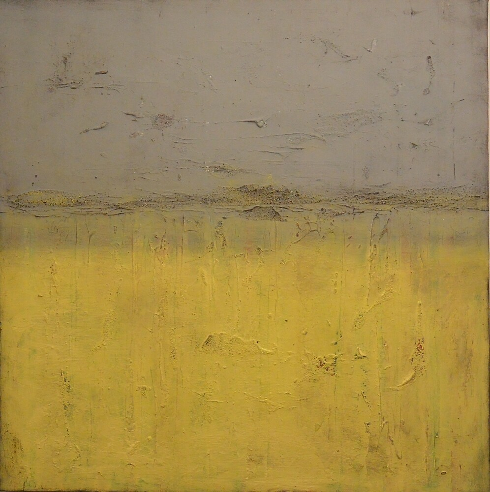 Quot Grey And Yellow Painting Abstract Art Landscape Painting