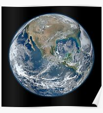 Beautiful Earth in HD, as seen from space Poster