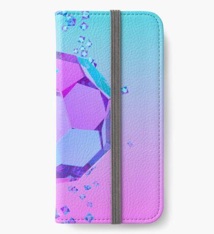 Orbiting Gems Cyan Pink - 3D Design iPhone Wallet