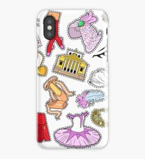 Ballet Stickers, Badges, Patches Set with Theater Elements. Vector Doodle iPhone Case/Skin